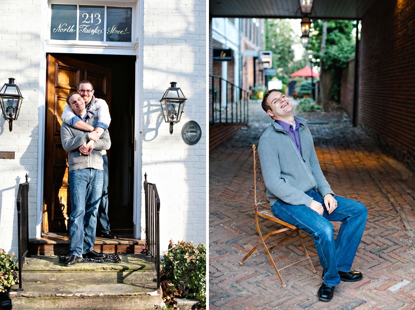 old town virginia gay engagement
