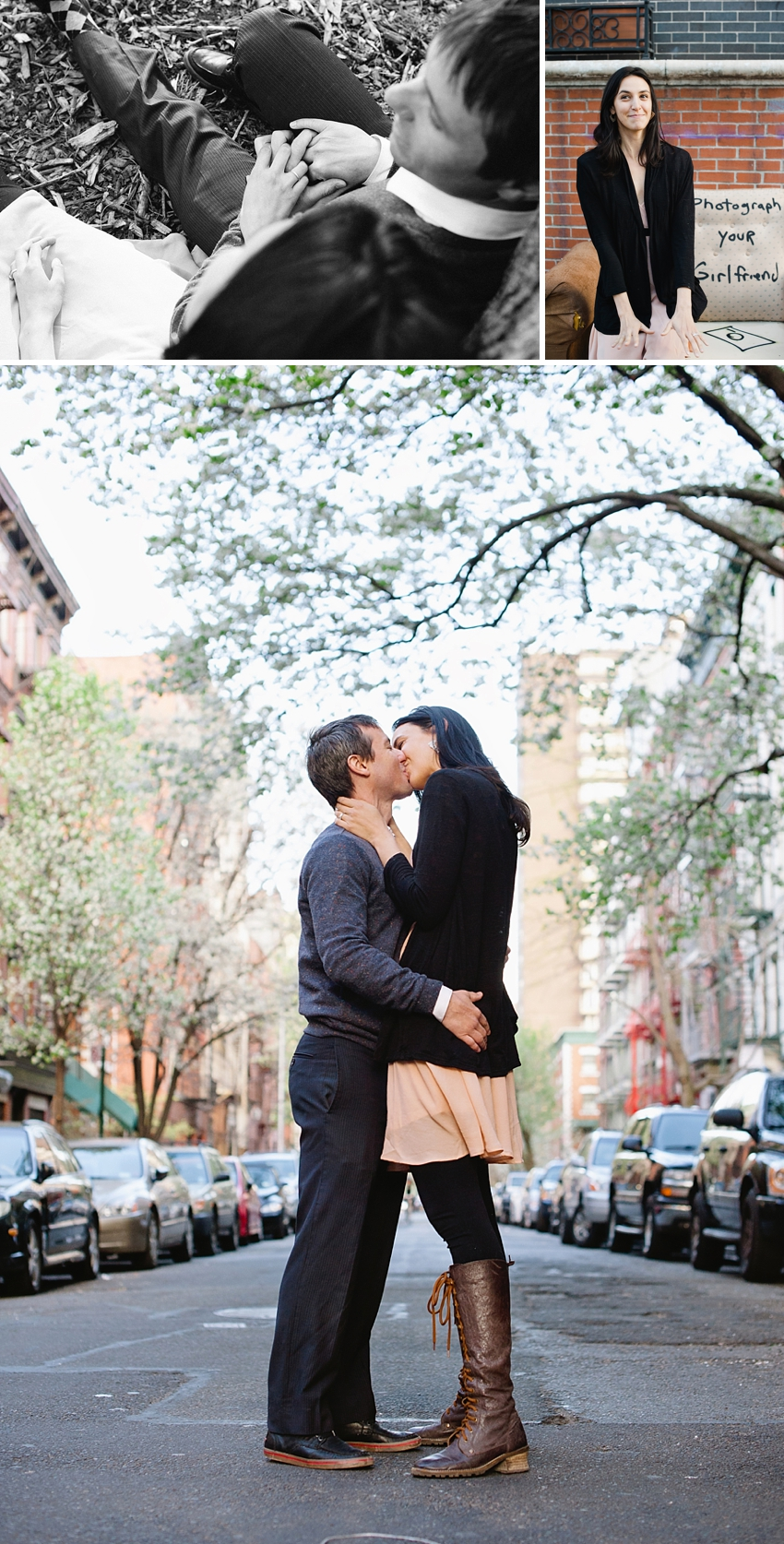nyc street kiss