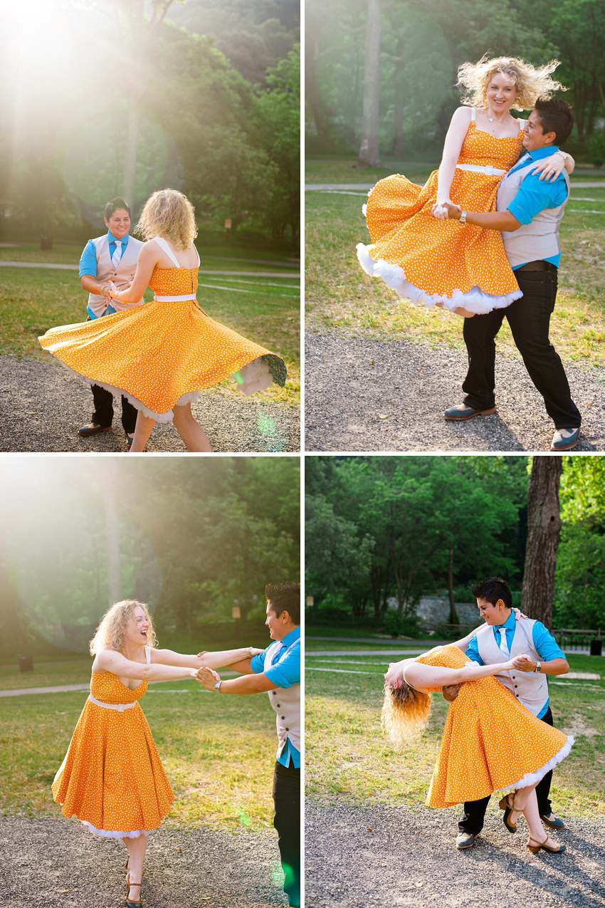 salsa dancing engagement photos
