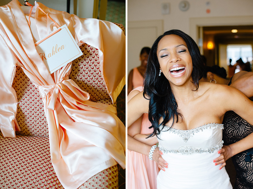 personalized bridesmaids robes for connecticut mansion wedding