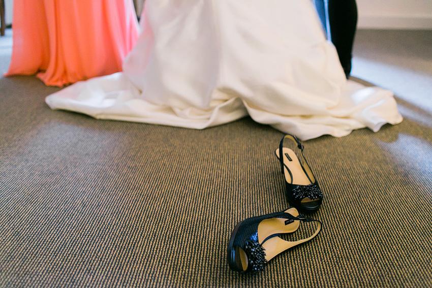 navy glittery heels