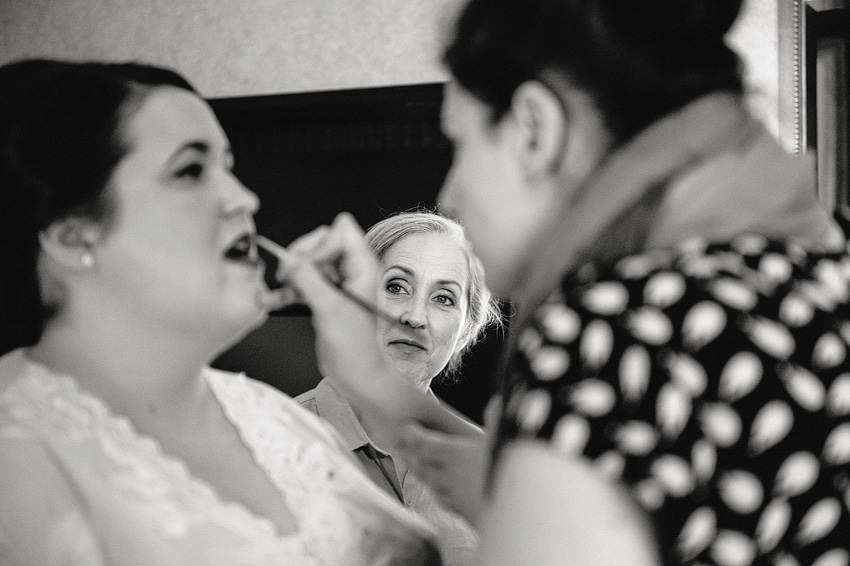 bride getting ready classic makeup
