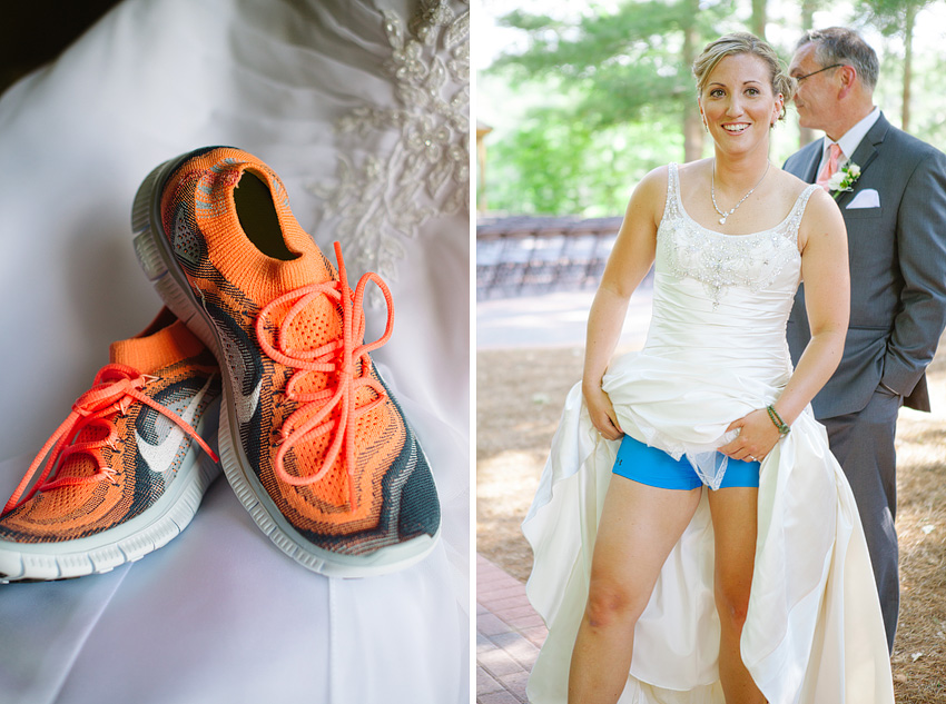 sporty bride sneakers shorts